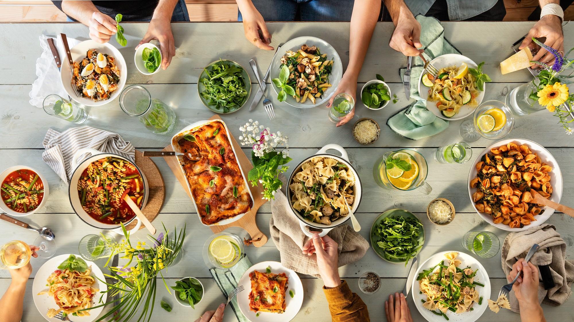 Grand'Italia zomerse pasta tafel recepten