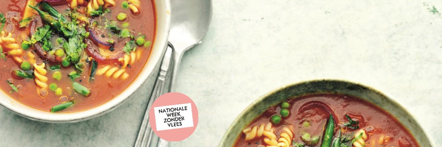 Spiksplinternieuw 23 Nationale week zonder vlees vegetarische pasta recepten Grand MN-82