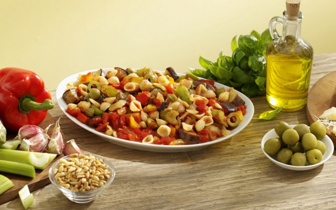 Recept Conchigliette met Siciliaanse ratatouille Grand'Italia