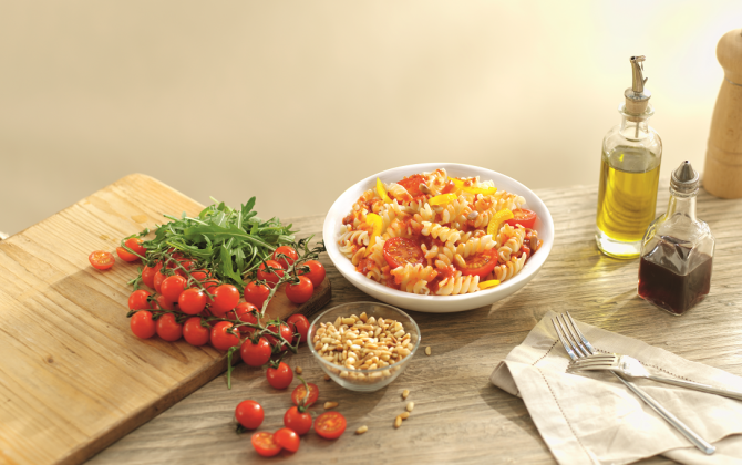 Recept Mini Fusilli met paprika Grand'Italia