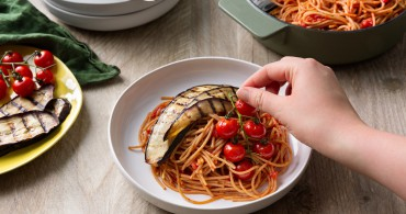 Recept Spaghetti met gegrilde aubergine Grand'Italia